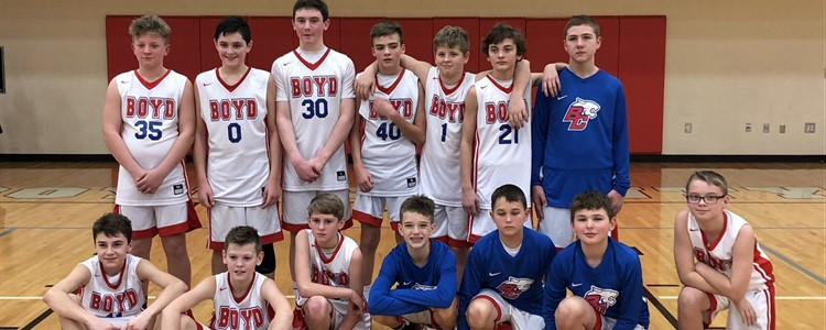 Congrats 7th grade basketball team on winning the Boyd County Baseball Holiday Basketball Tournament over Huntington Middle.