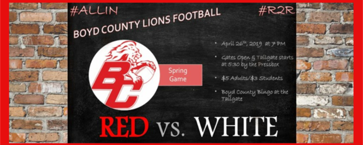 Boyd County Lions Football -  Red vs. White Game